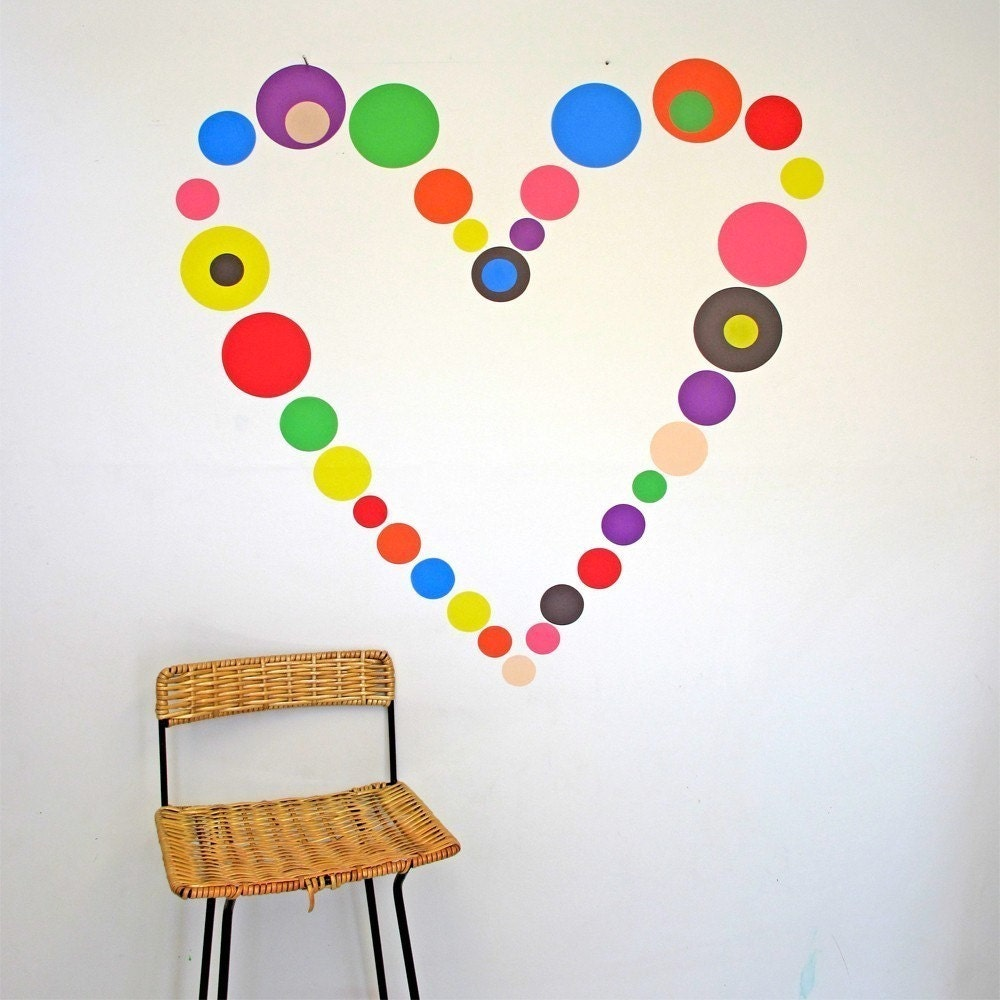 Hundreds and Thousands- wall decals, reusable fabric wall stickers
