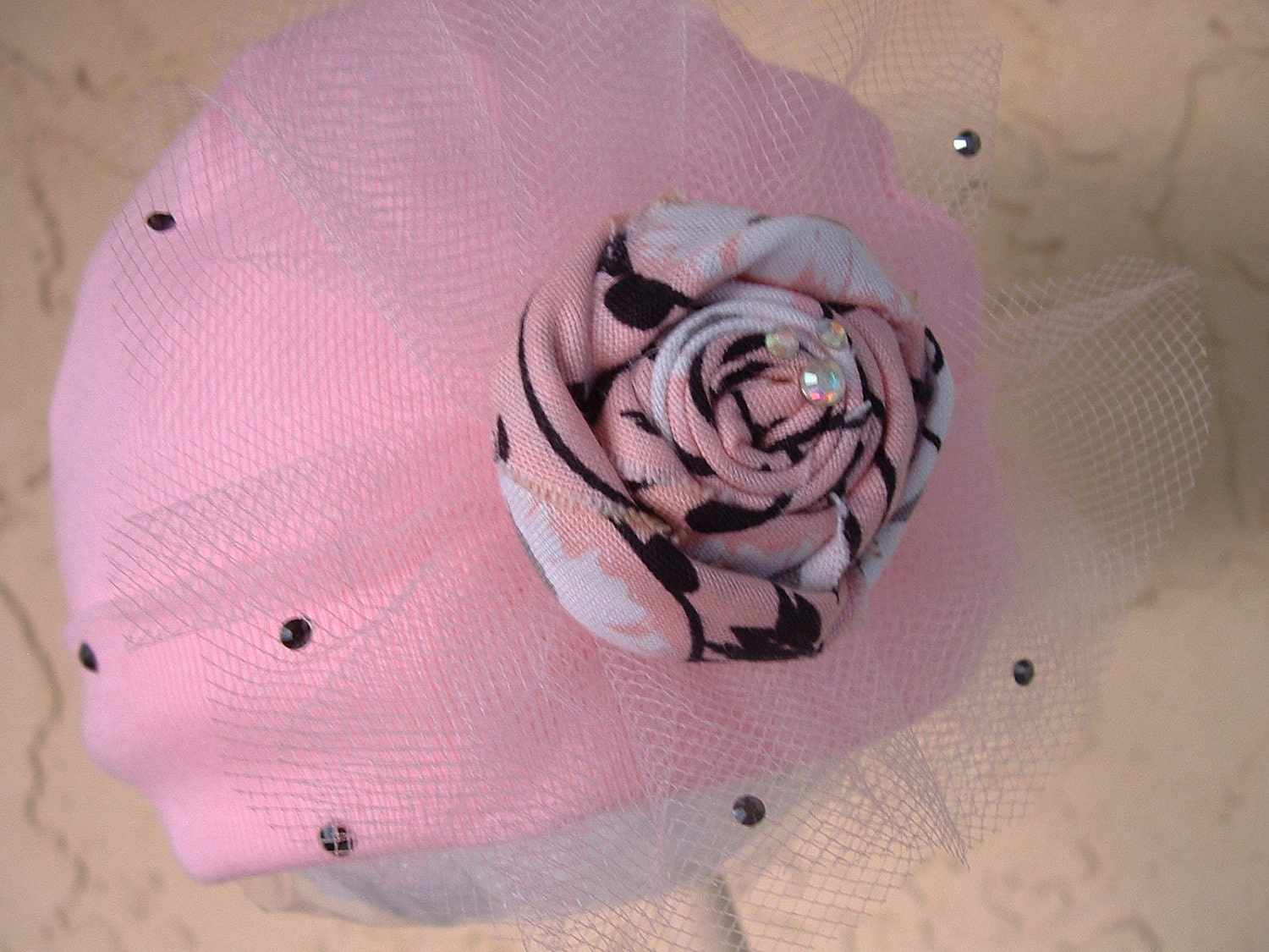 French Rose Couture Beanie