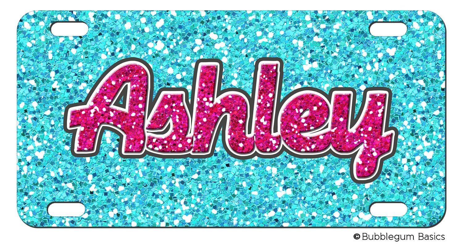 PERSONALIZED LICENSE Plate GLITTER Bling Pattern by