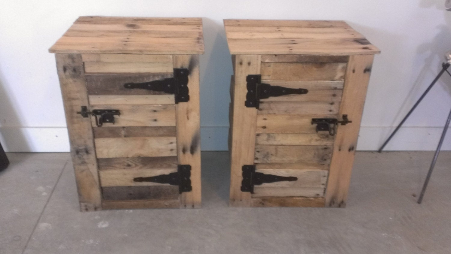 Items similar to Handmade reclaimed pallet wood nightstands on Etsy