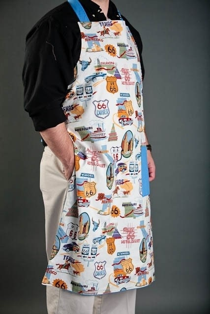 Men's BBQ or Chef Apron Route 66 Theme