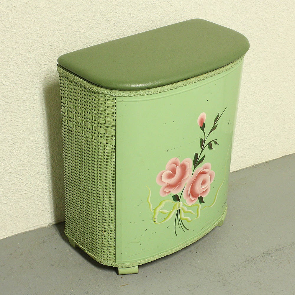 Vintage clothes hamper laundry hamper laundry by oldcottonwood - Hamper for dirty clothes ...