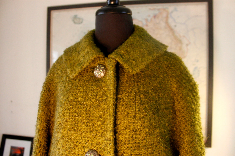 Mad Men Style Vintage Swing Green Coat