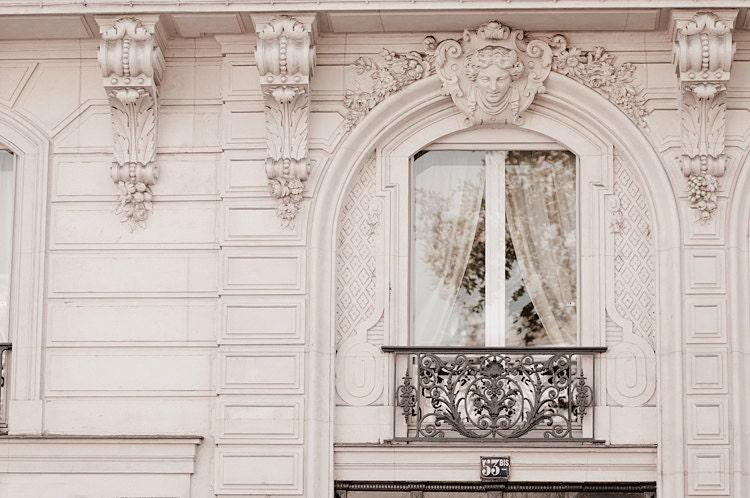 Paris photograph baroque window classic black by for Architecture parisienne