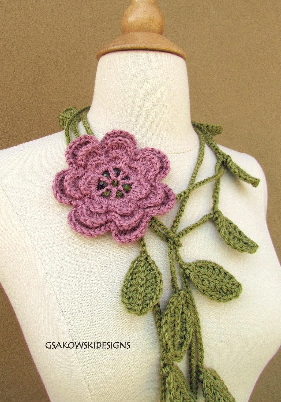 Dusty Rose Flower Lariat