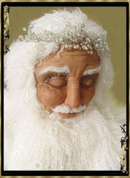 Praying Santa, Life-size OOAK by Jill Zaperach