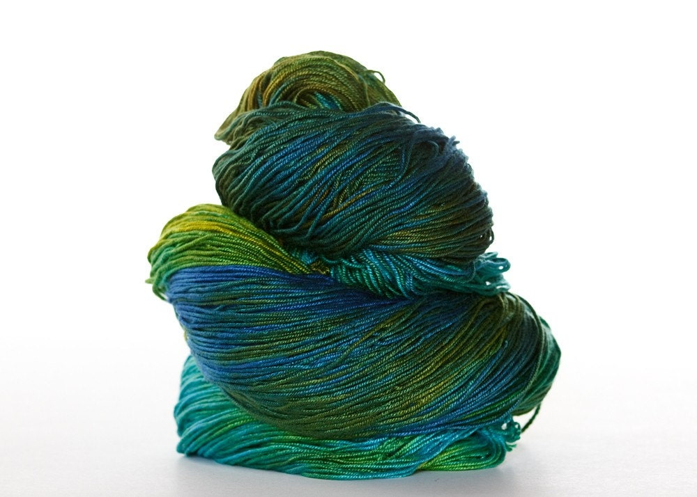 PEACOCK - Bamboo Light Fingering Weight Yarn - 560 yards