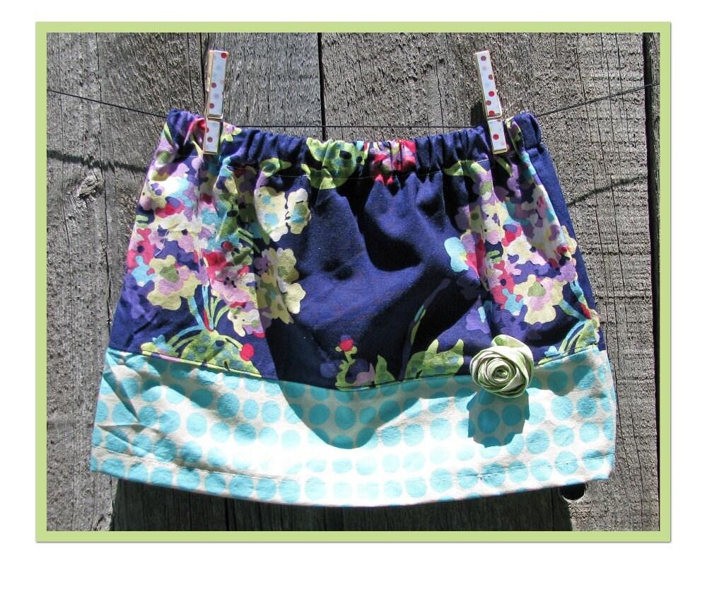 SALE Rosette Mini Skirt- size 4- READY TO SHIP