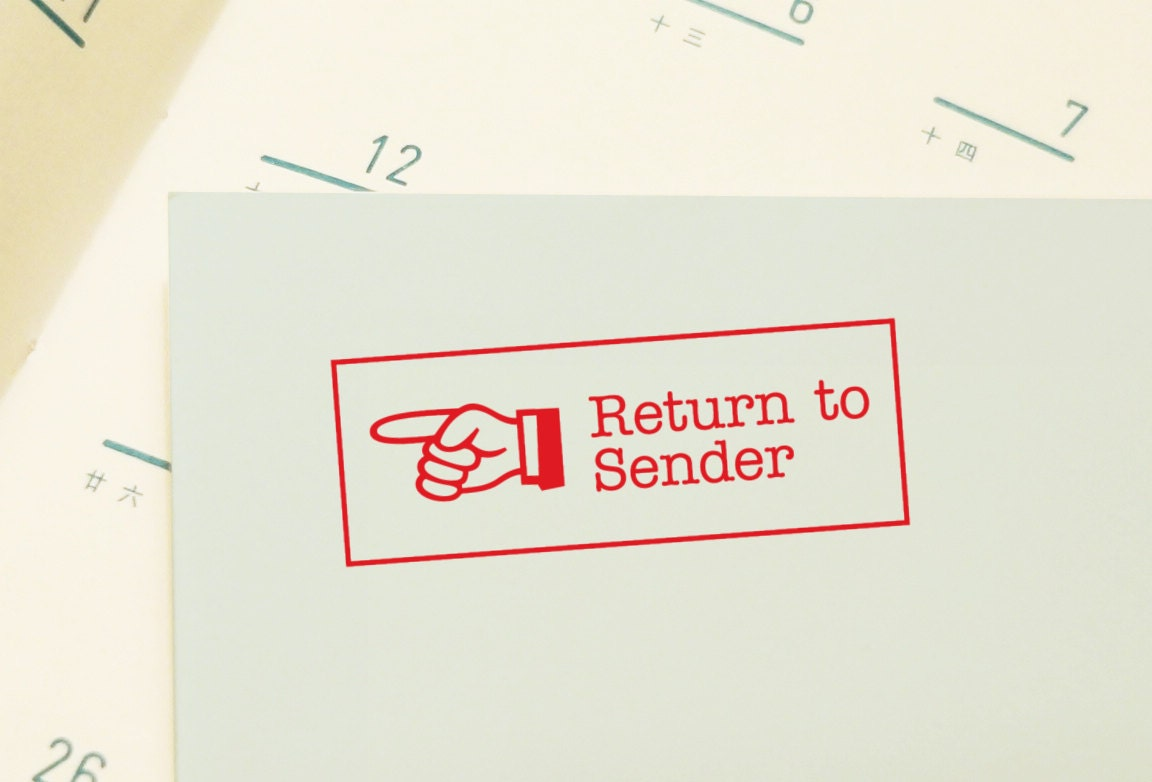 how to mark mail return to sender