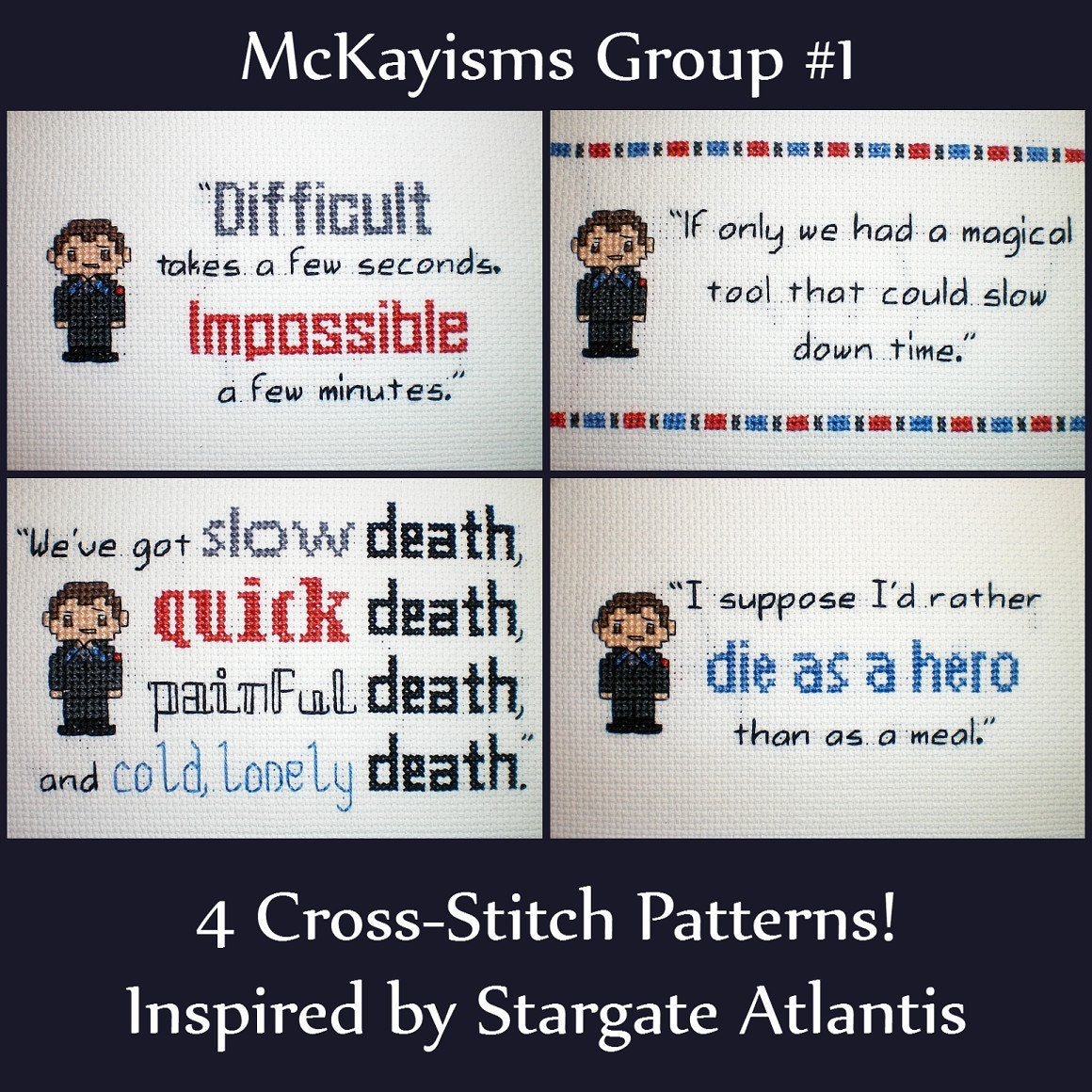 McKayisms Group 1 - Stargate Atlantis Inspired Cross-stitch Pattern