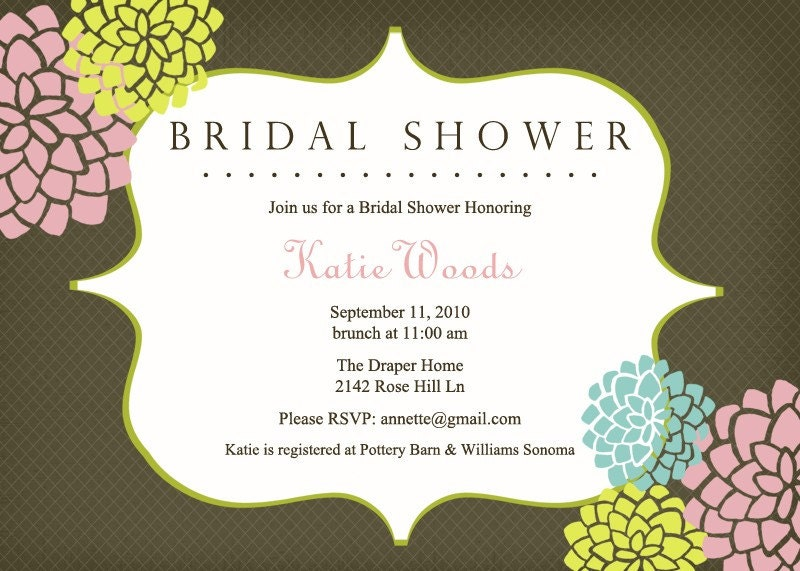 Bloom Bridal or Baby Shower Invitation