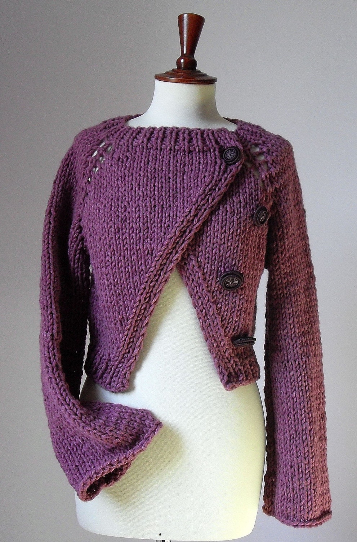 Criss Cross knitting shrug