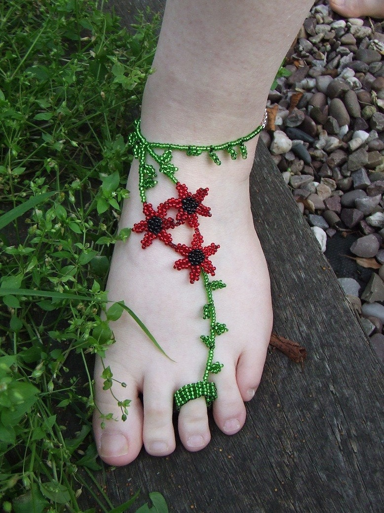 Poppy Foot Jewellery (Slave Anklet)