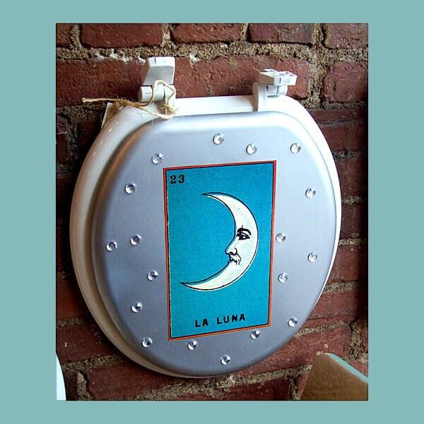 Idee Design Licht Gmbh : Loteria toilet seat retro vintage Mexico by