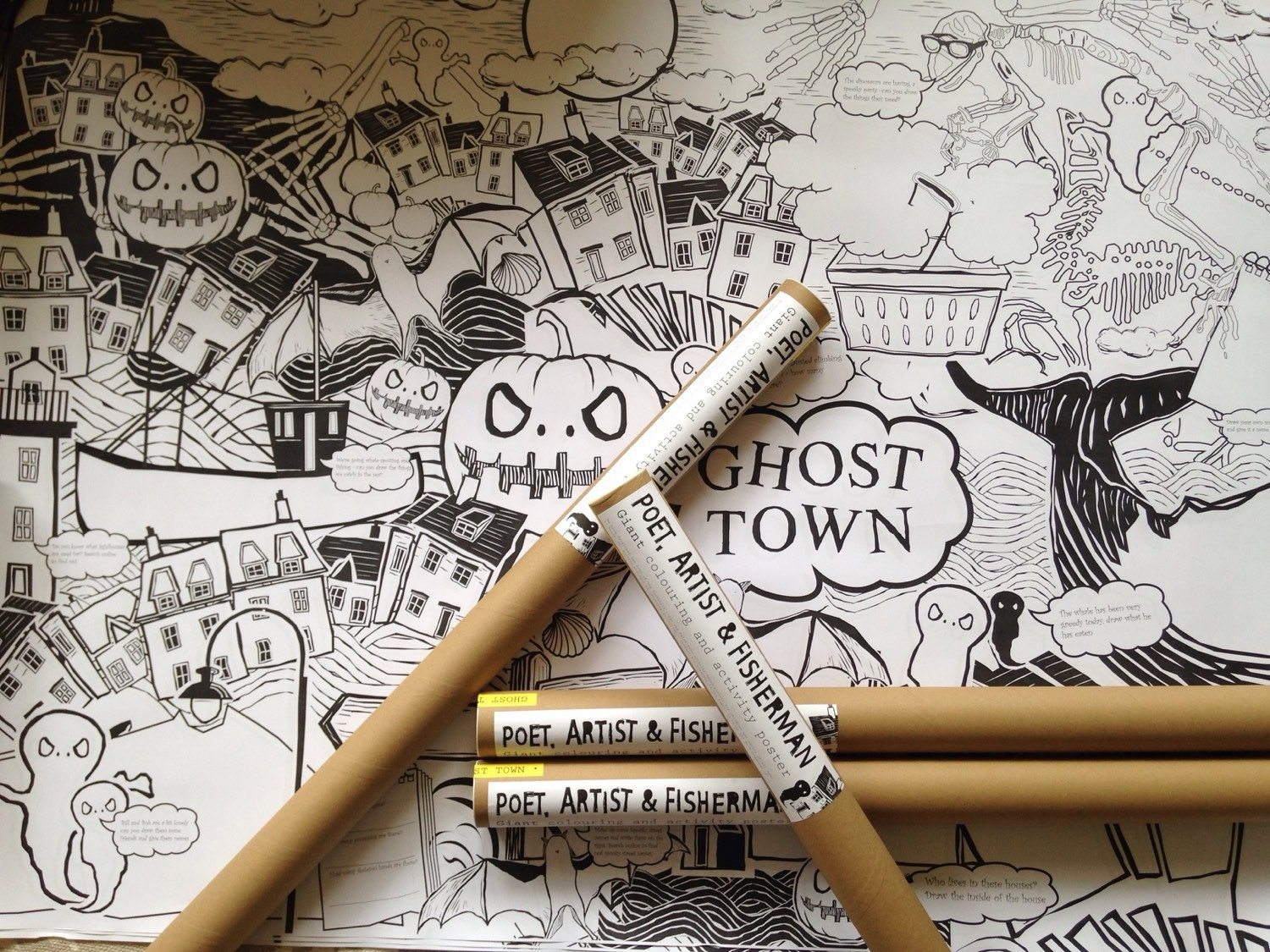 Halloween Giant Colouring  Activity Poster FREE DELIVERY