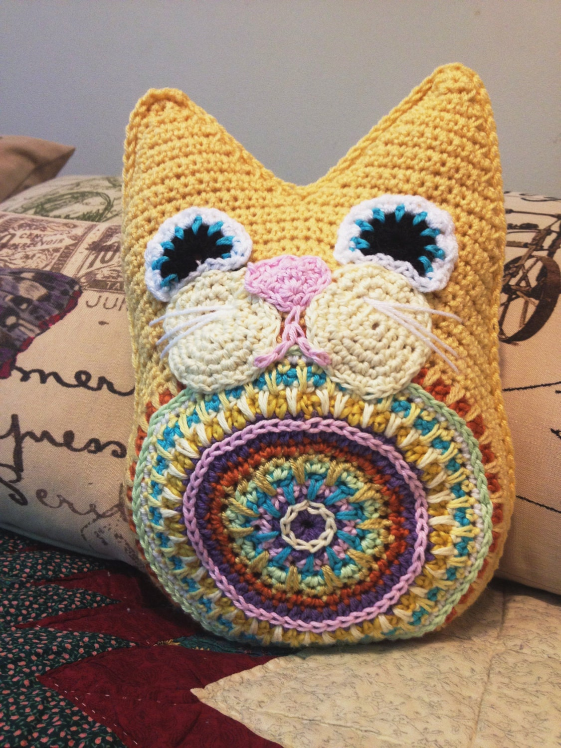 Fat Cat Crochet Pattern PDF Pillow Snuggly Toy by ...