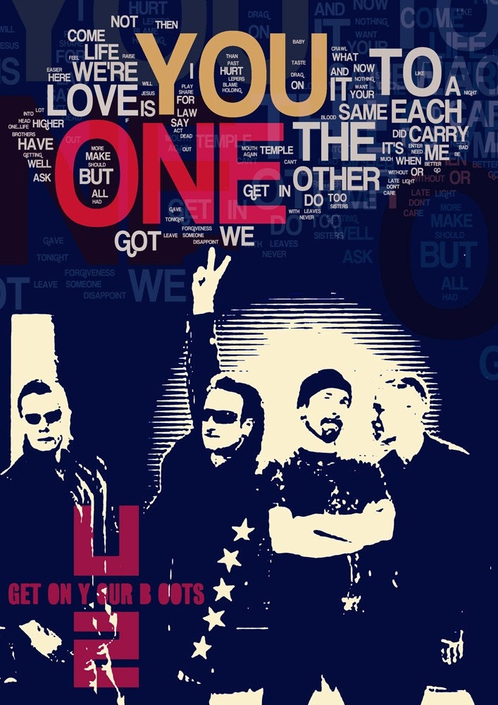 ONE - u2 the song - collage limited edition - version 2