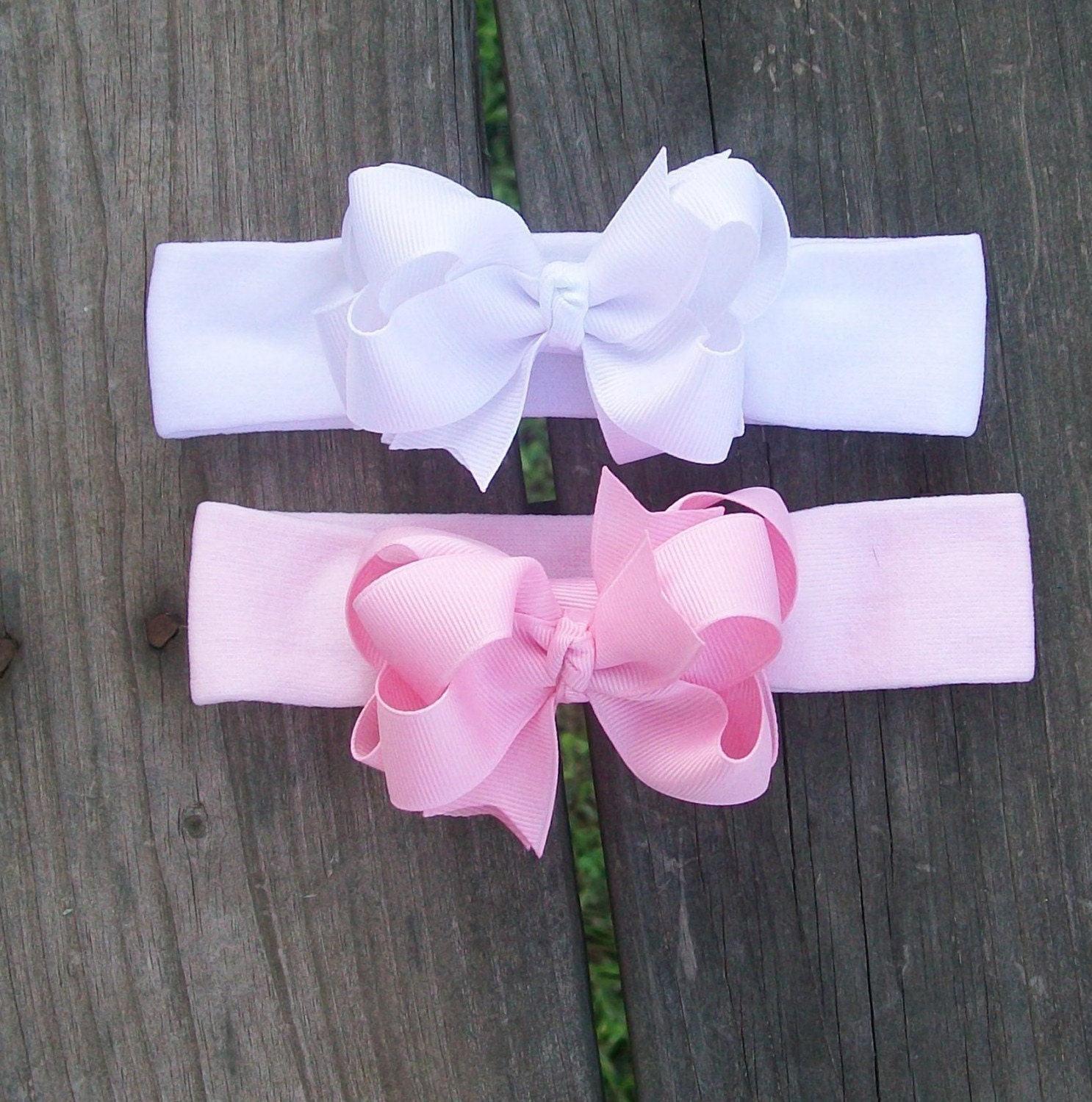 BABY'S FIRST PRINCESS BANDS.....MINI DOUBLE LAYERED BOWS AND BANDS.........ONE DOLLAR SHIPPING