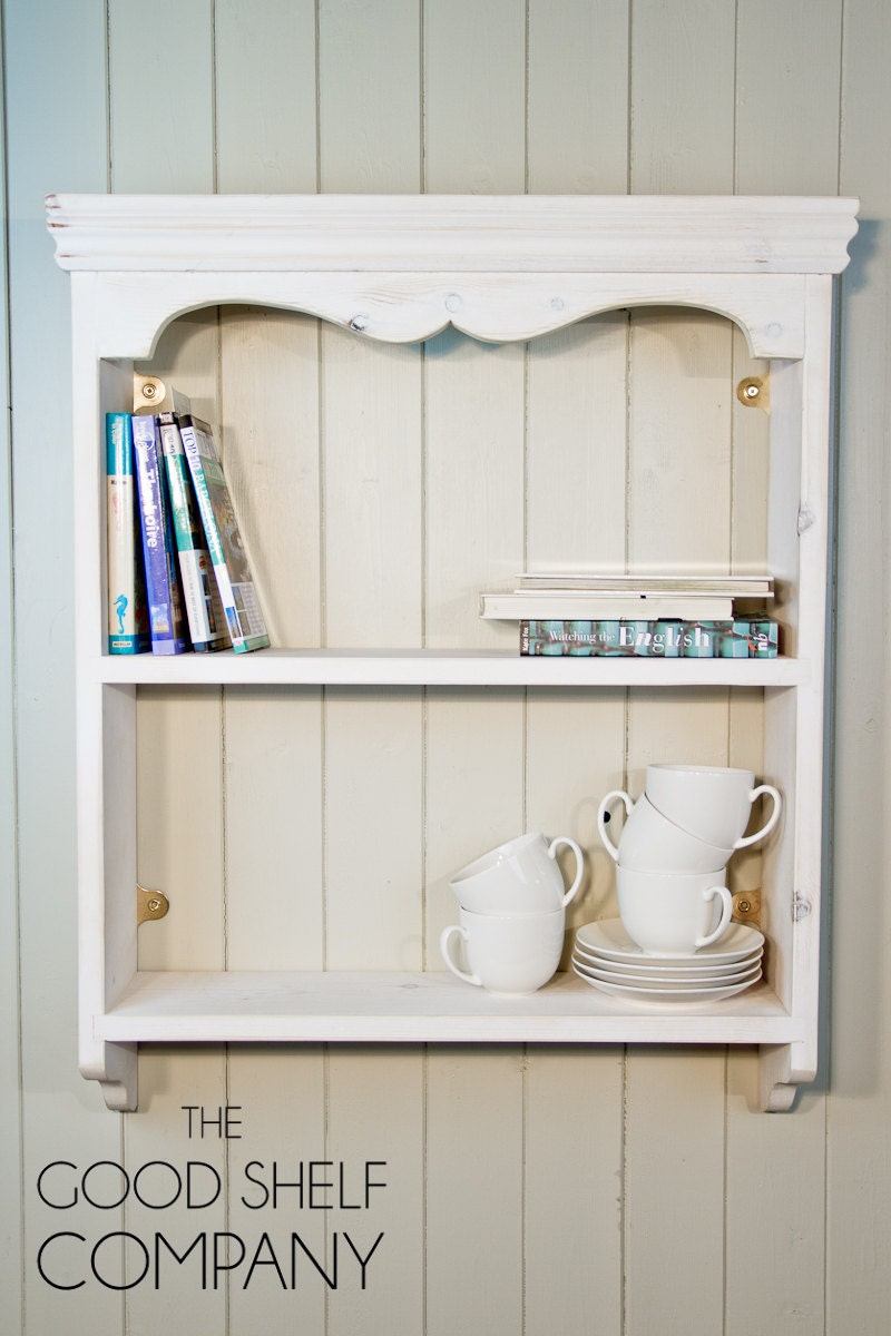 Cottage Wall Shelf Bookcase Spice Rack looks great in the kitchen living room hallway bedroom bathroom or anywhere else you need it!