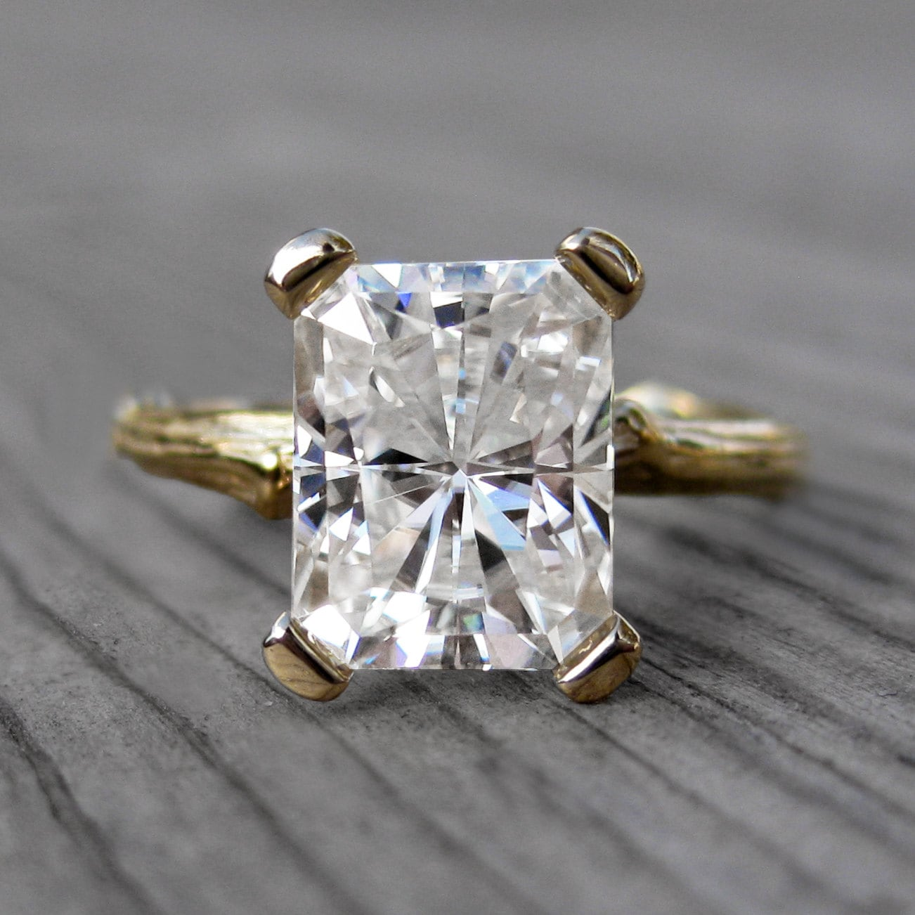 Yellow Gold Branch Engagement Ring