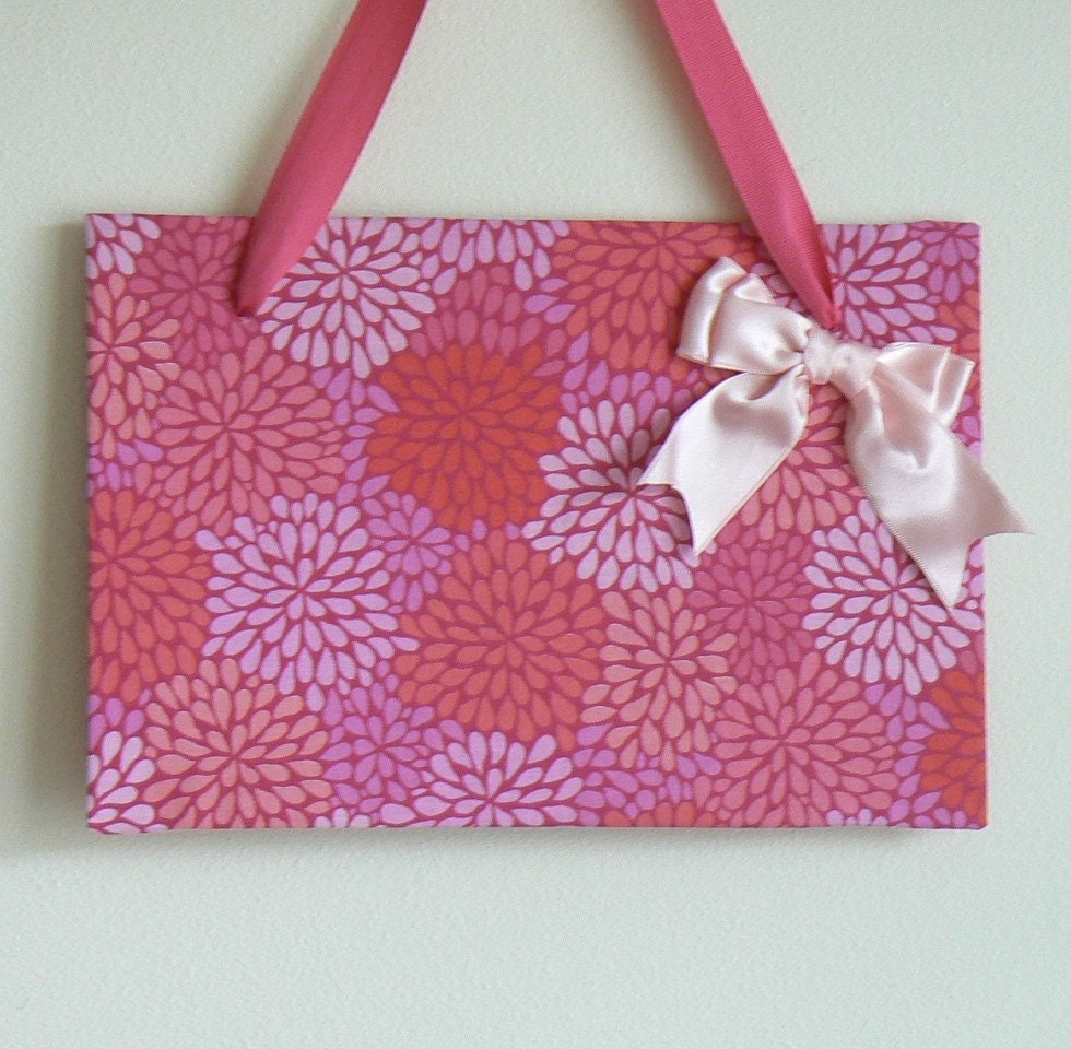 Pink Floral Magnetic Board