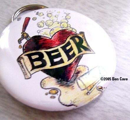 Beertap Heart (Beer Love) , , , 2,25 Inch Bottle Opener Keychain
