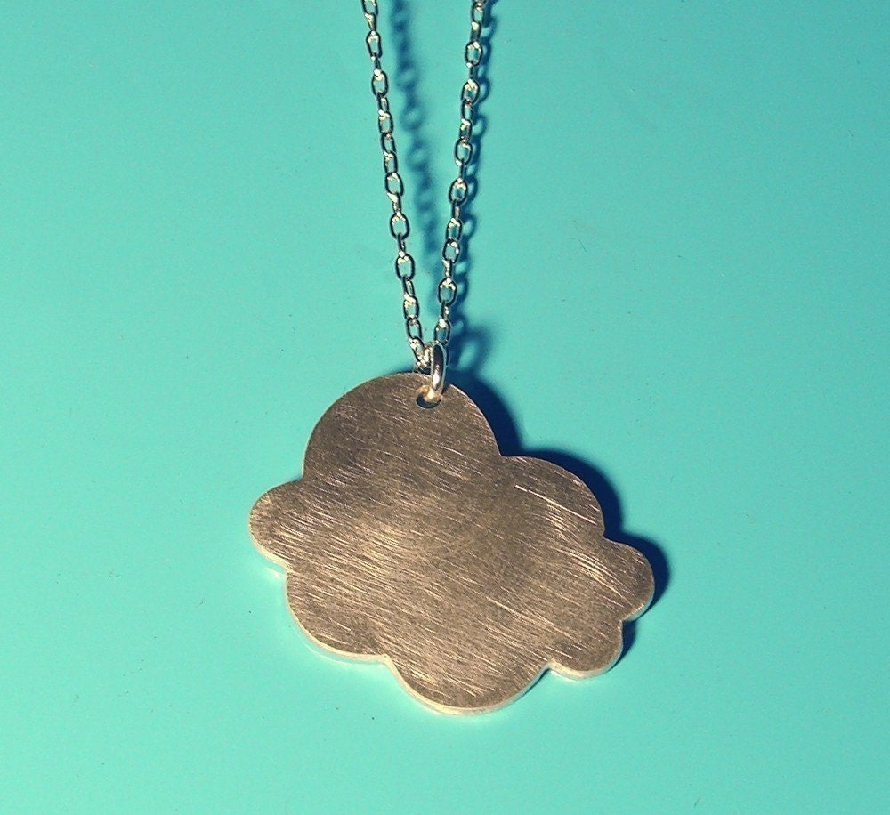 CLOUD silver silhouette necklace