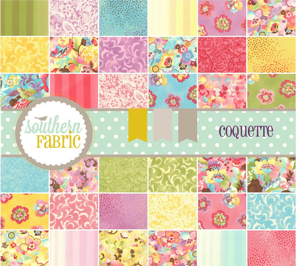 Coquette by Chez Moi  for Moda--Quilt Fabric 36 Fat Quarters