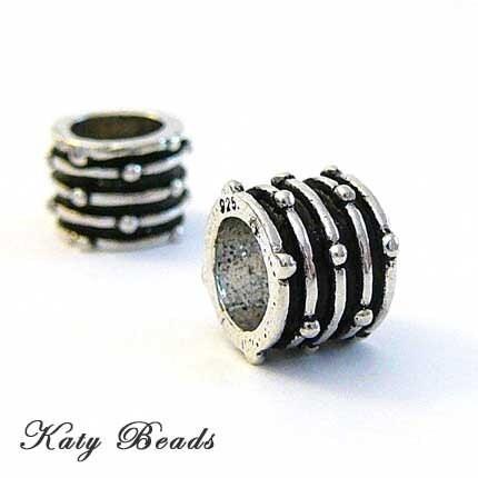 large silver beads. 2 Bali Sterling Silver Beads Large Hole fits Pandora Biagi Chamilia Troll Pasha B33. From Katybeads