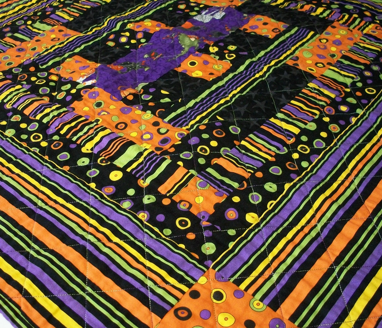 Halloween Dance Handmade Quilted Patchwork Table Topper