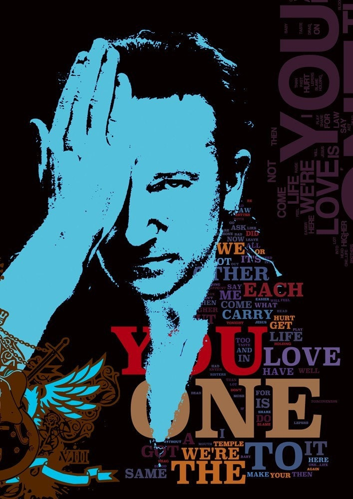 ONE - u2 the song - collage limited edition - version 1