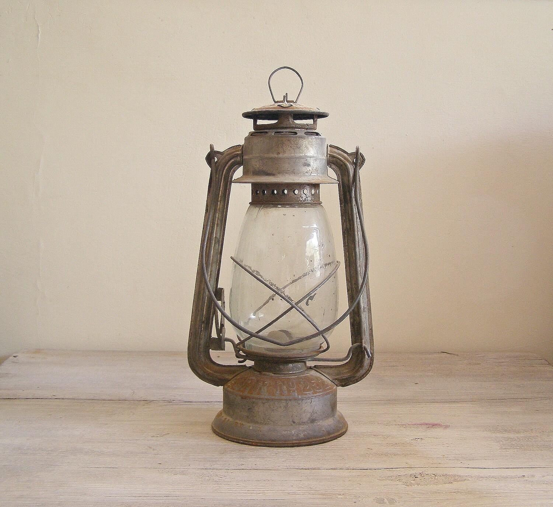 Antique Lantern Lamp Vintage Rusted Railroad Lamp By Meshumash