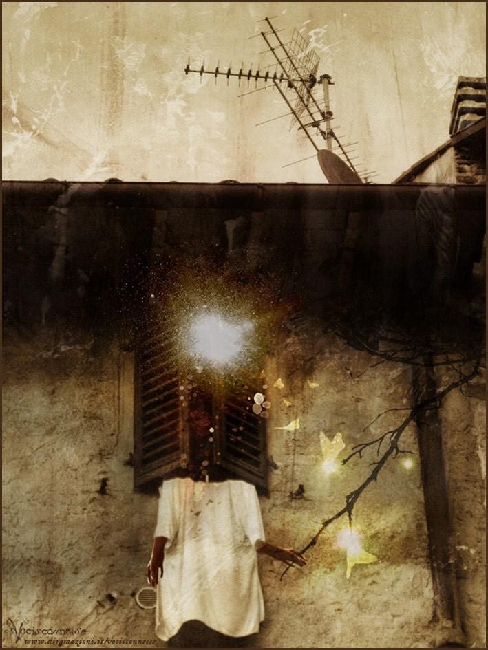Hanging Dreams - original A4 illustration print- day Dreams serie by Vocisconnesse - Diramazioni