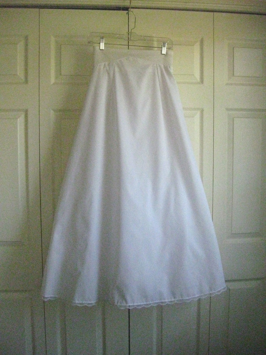 Vintage wedding dress slip free shipping by ferrycreekvintage for Petticoat under wedding dress