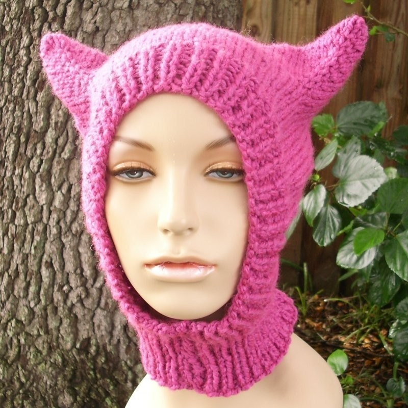 PDF Knitting Pattern for The Wild Thing Balaclava Ski by pixiebell