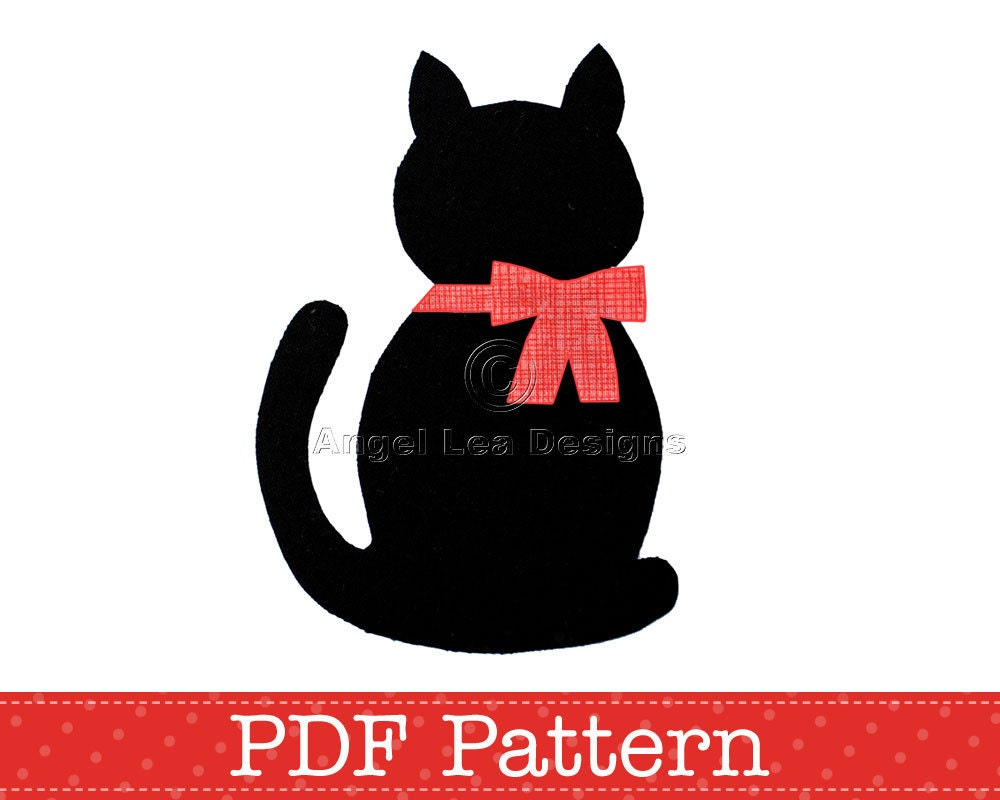 cat applique template kitten template animal by