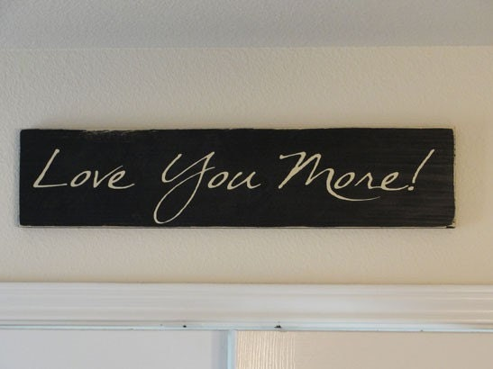 Wall Art Love You More : Items similar to love you more vinyl lettering board wall