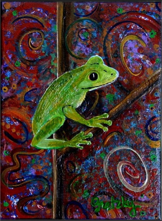 Tree Frog Original Painting