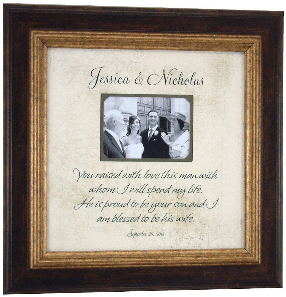 Customized Wedding Picture Frames : Custom Wedding Picture Frame Personalized, YOU RAISED With LOVE ...