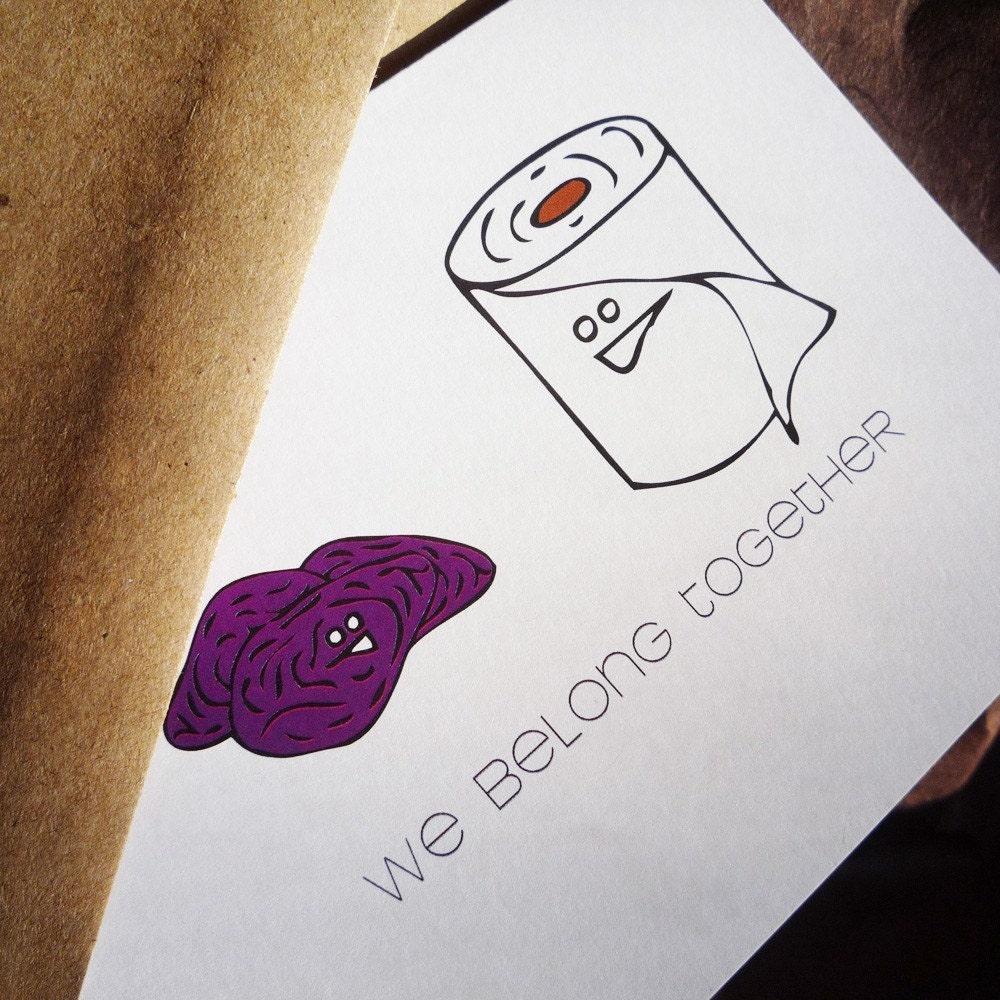 We belong together Prunes and Toilet Paper by theRasilisk on Etsy from etsy.com