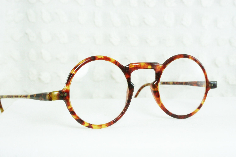 30s Glasses 1930s Round Eyeglass Tortoise Round by DIAeyewear