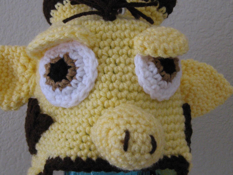 Crochet Giraffe Hat Pattern For Dogs : Newborn BABY Giraffe Animal Hat Earflap Cap by ...