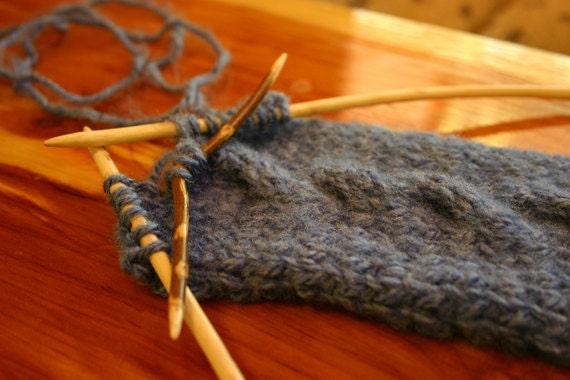 Rope Knitting Needles : Rustic oak cable knitting needle handmade by littlebearfarms