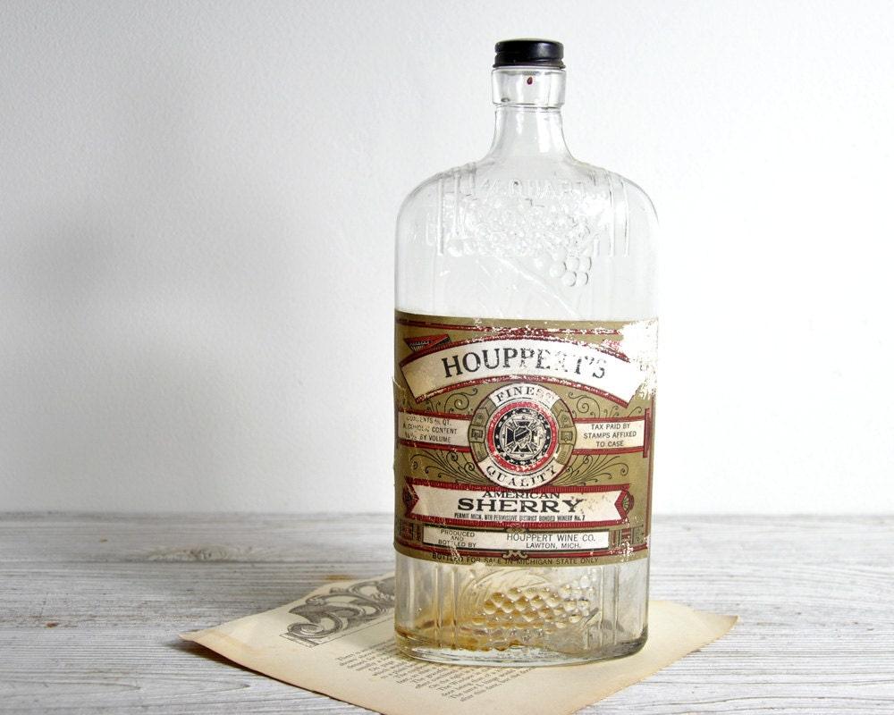 Vintage liquor bottle vase industrial decor by havenvintage for Liquor bottle vases