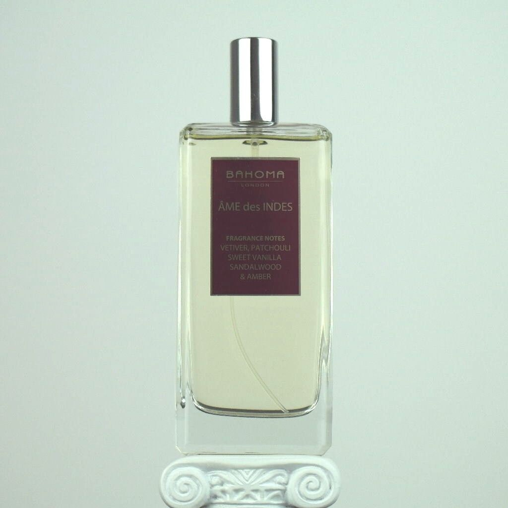 Image of 100 ml AME des INDES Room Spray BAHOMA London Vetiver, Patchouli, Sweet Vanilla, Sandalwood, Amber