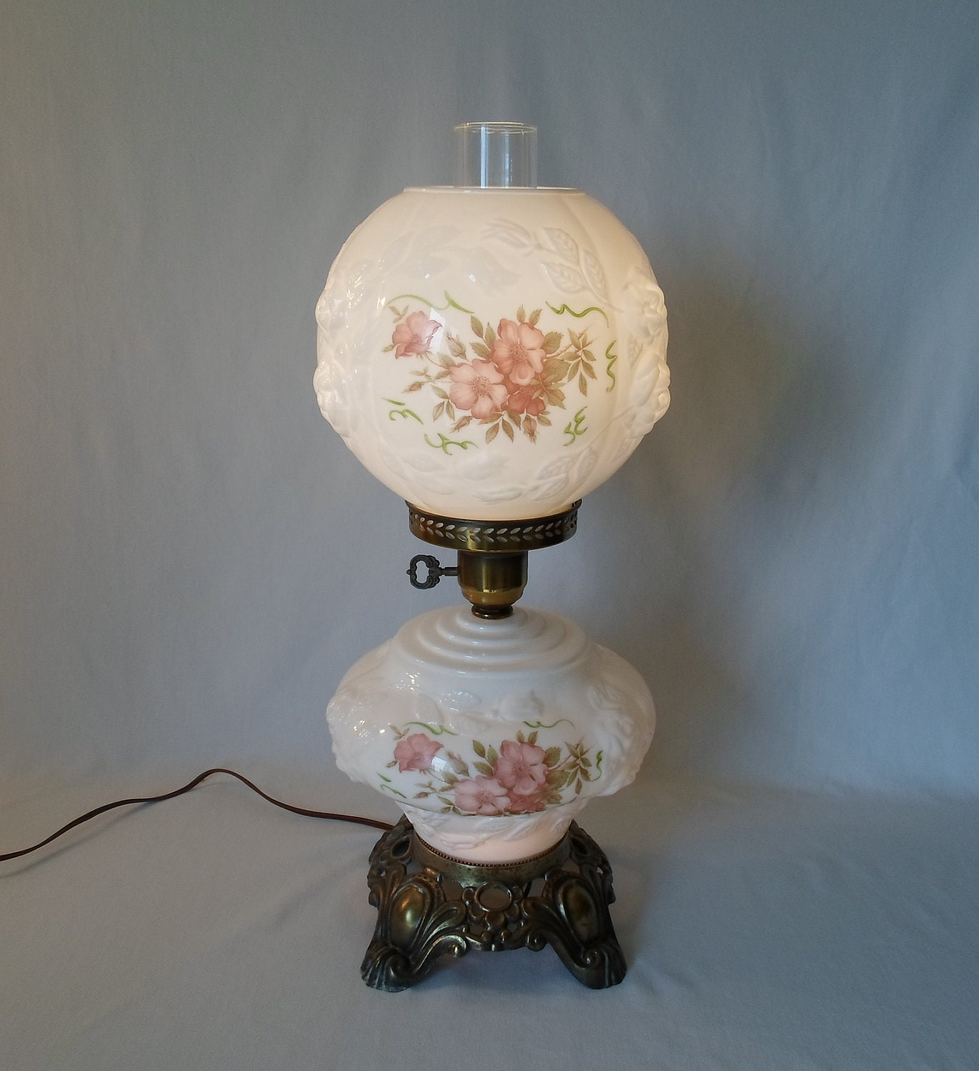 Vintage Gone With The Wind Lamp Hurricane By