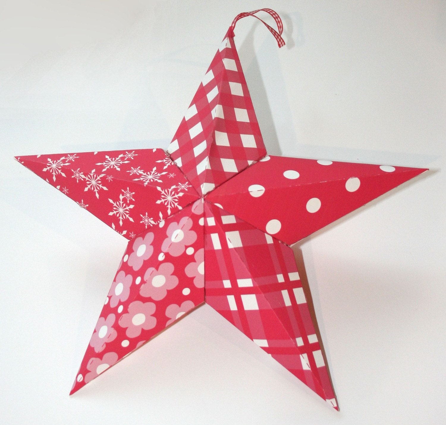 Items Similar To Printable 3d Hanging Star Template On Etsy