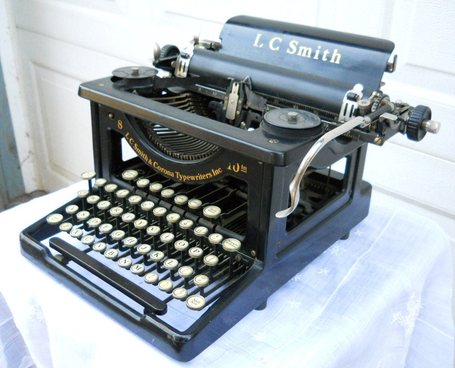 Antique Rare Early Form 1930s LC Smith and Corona Typewriter Needs Restoration and/or Cleaning - SirGunnisonsFarm