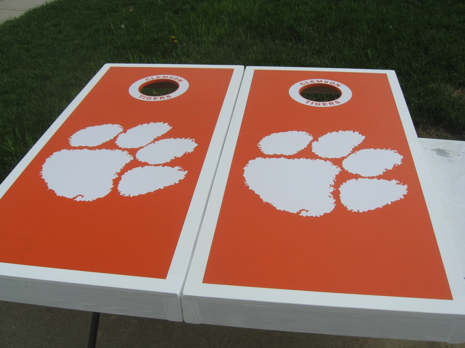 Items Similar To Clemson Tigers Cornhole Boards And Bags