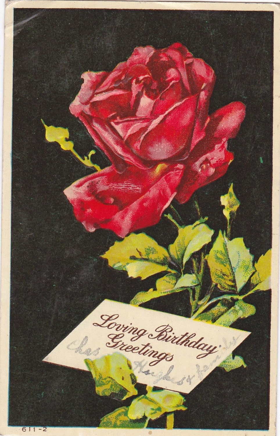 Vintage Birthday Post Card Early 1900s bd068